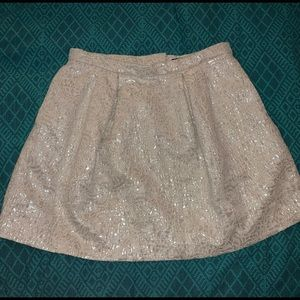 H&M sparkle white/cream mini skirt
